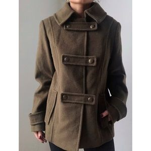 St.John • Olive Green double breasted coat